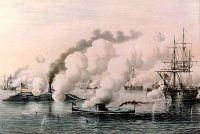 Schlacht von Hampton Roads (US Navy Art Collection)