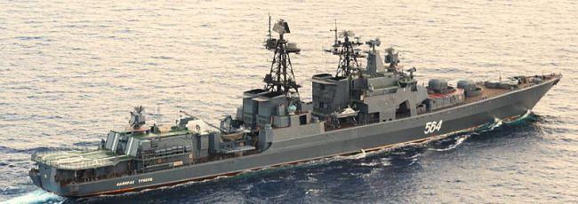 Marineforum - Russischer Zerstörer ADMIRAL TRIBUTS (Foto: Deutsche Marine)