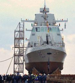 Marineforum - Stapellauf der GANTHOOT (Foto: Fincantieri)
