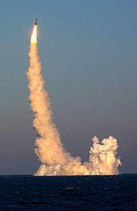 Marineforum - Bulava Testschuss (Foto: russ. Marine)